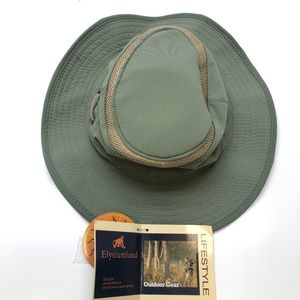 Other - Olive Green Adjustable SPF Safari Hat